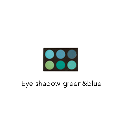 eye shadow green and blue HM MAKEUP